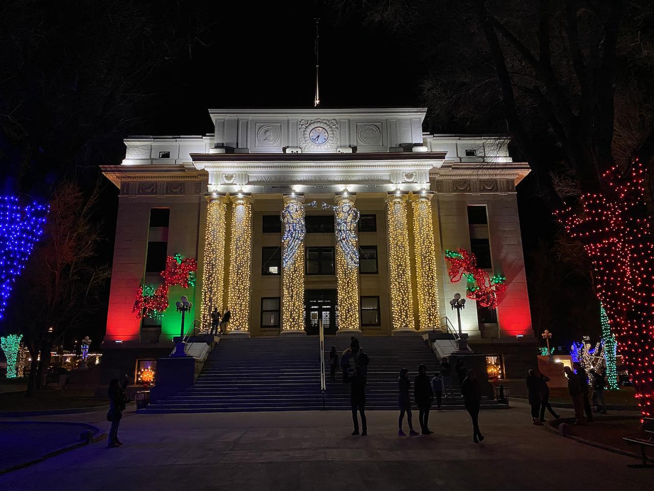 Prescott Courthouse Christmas Lights